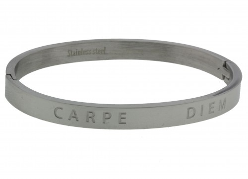 Carpe Diem Stainless steel Armband