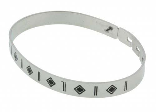 Aztec stainless steel armband