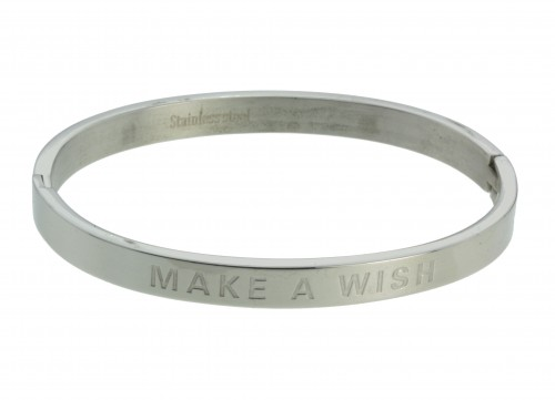 Make a wish Stainless steel armband