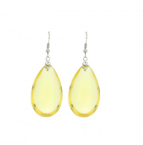 Yellow rain drop earring