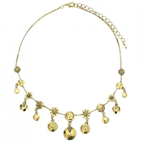 Coin necklace goud-kleur