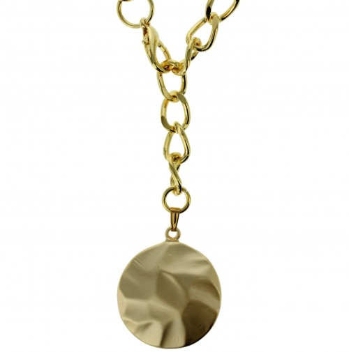 Gold-colored coin necklace