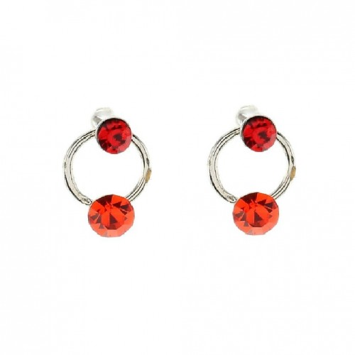 Oorbellen rood swarovski elements